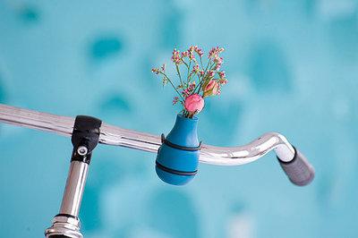 fietsvaasje blauw